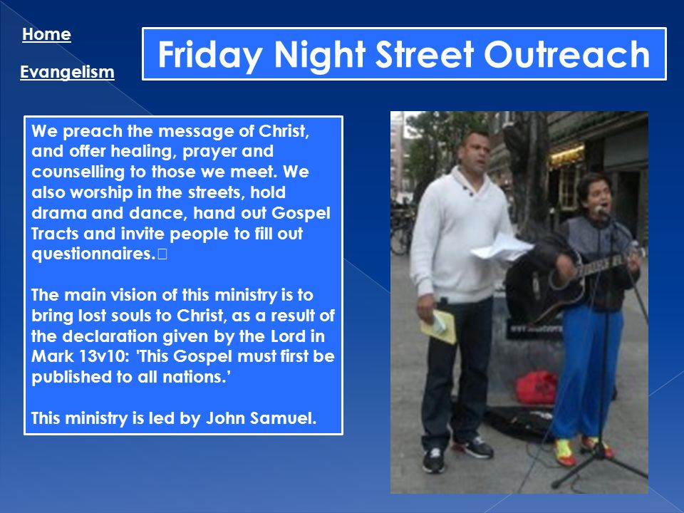 Friday Night Street Outreach