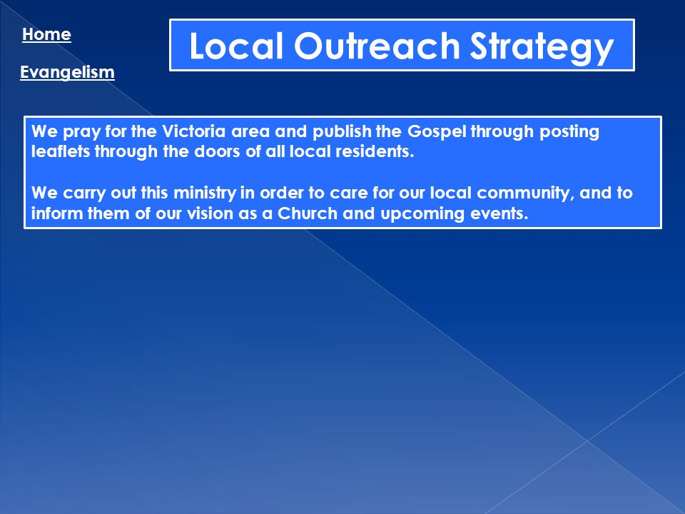 Local Outreach Strategy