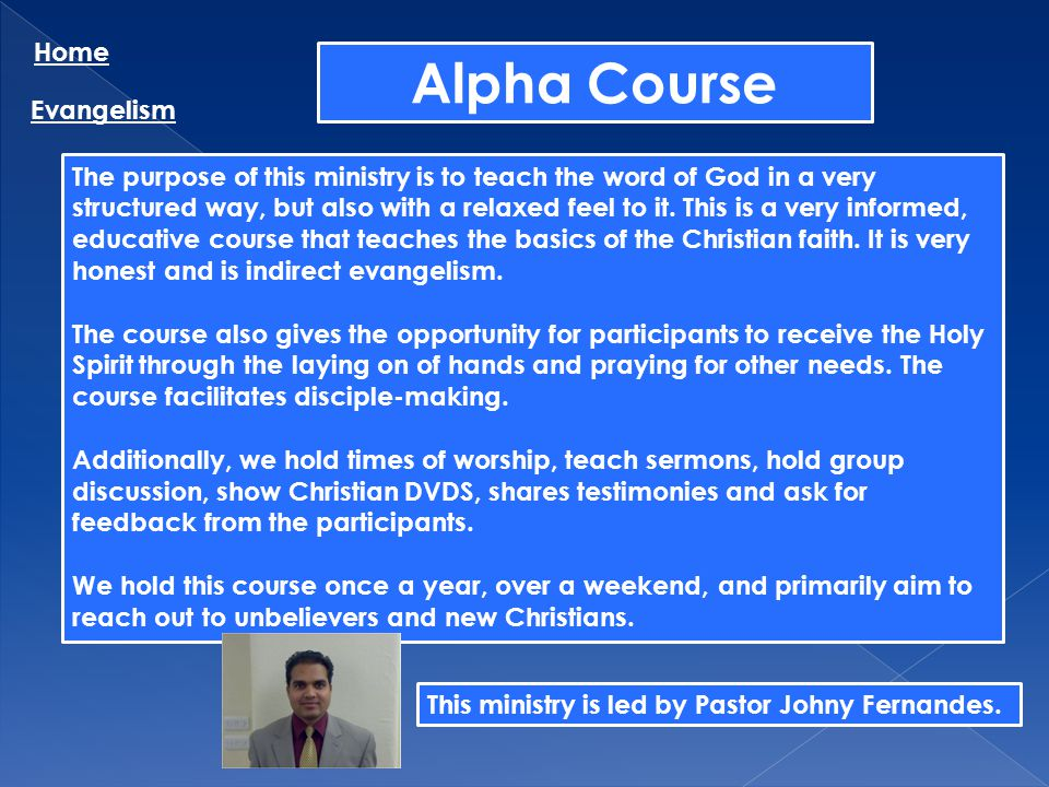 Alpha Course Home Evangelism