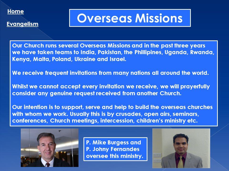 Overseas Missions Home Evangelism