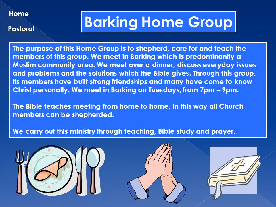 Barking Home Group Home Pastoral
