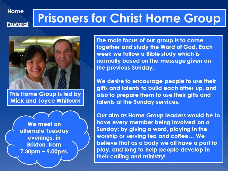 Prisoners for Christ Home Group