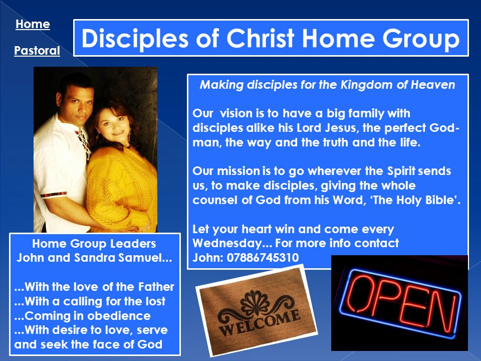 Disciples of Christ Home Group