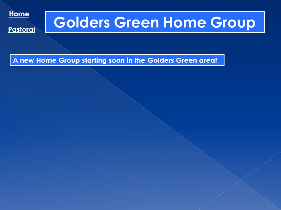 Golders Green Home Group