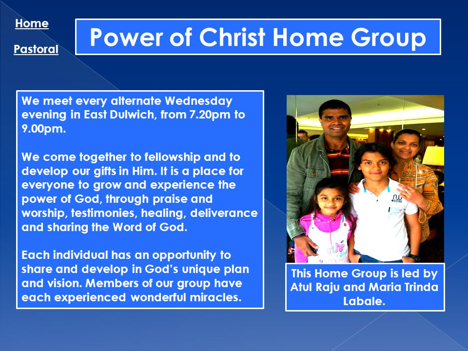 Power of Christ Home Group