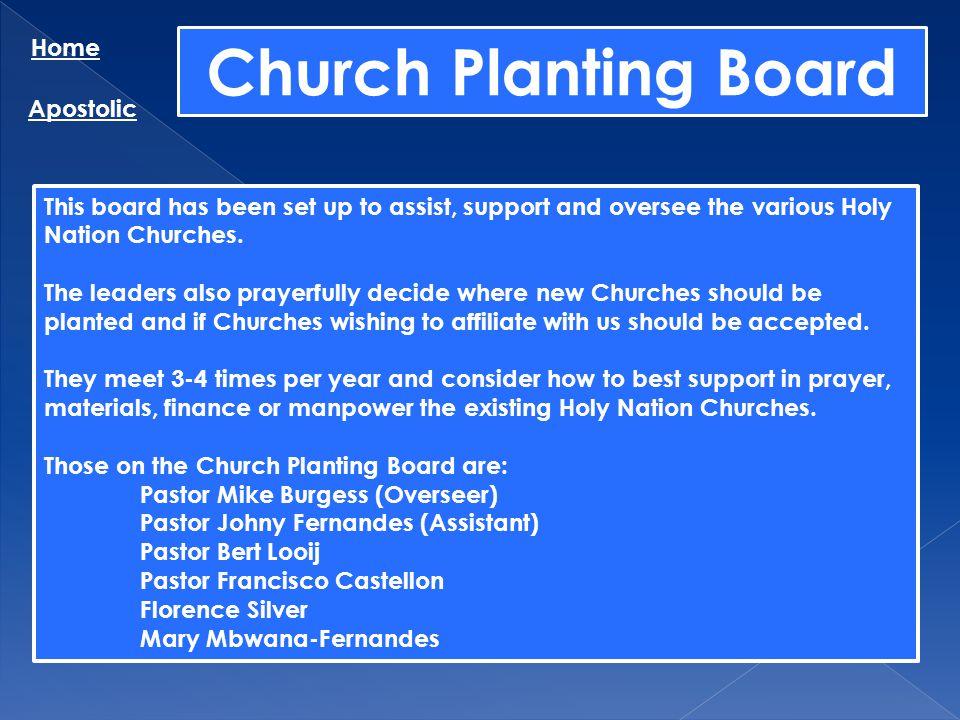Church Planting Board Home Apostolic
