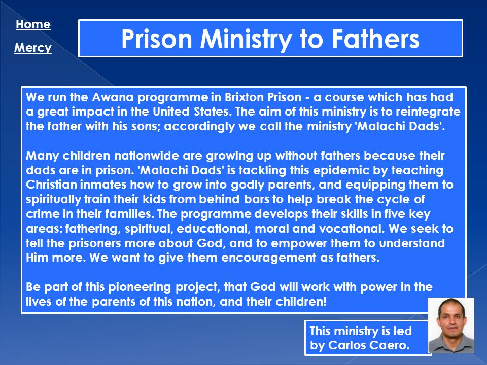 Prison Ministry to Fathers