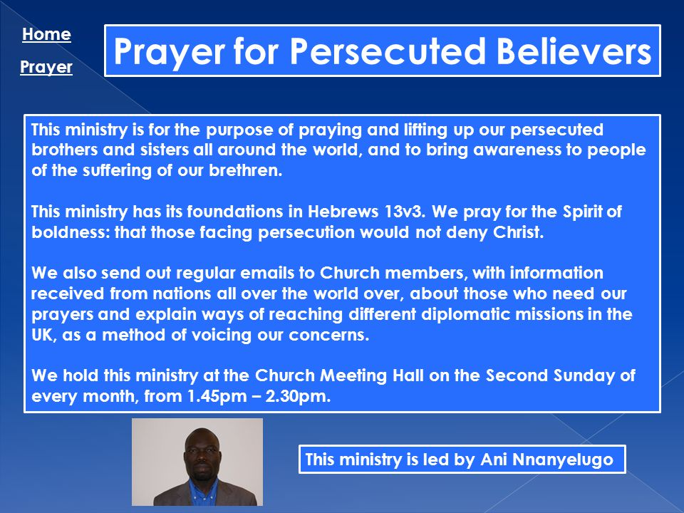 Prayer for Persecuted Believers