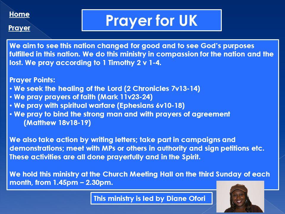 Prayer for UK Home Prayer