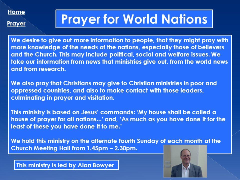 Prayer for World Nations