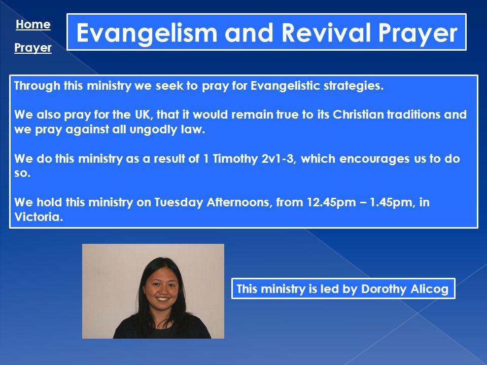 Evangelism and Revival Prayer