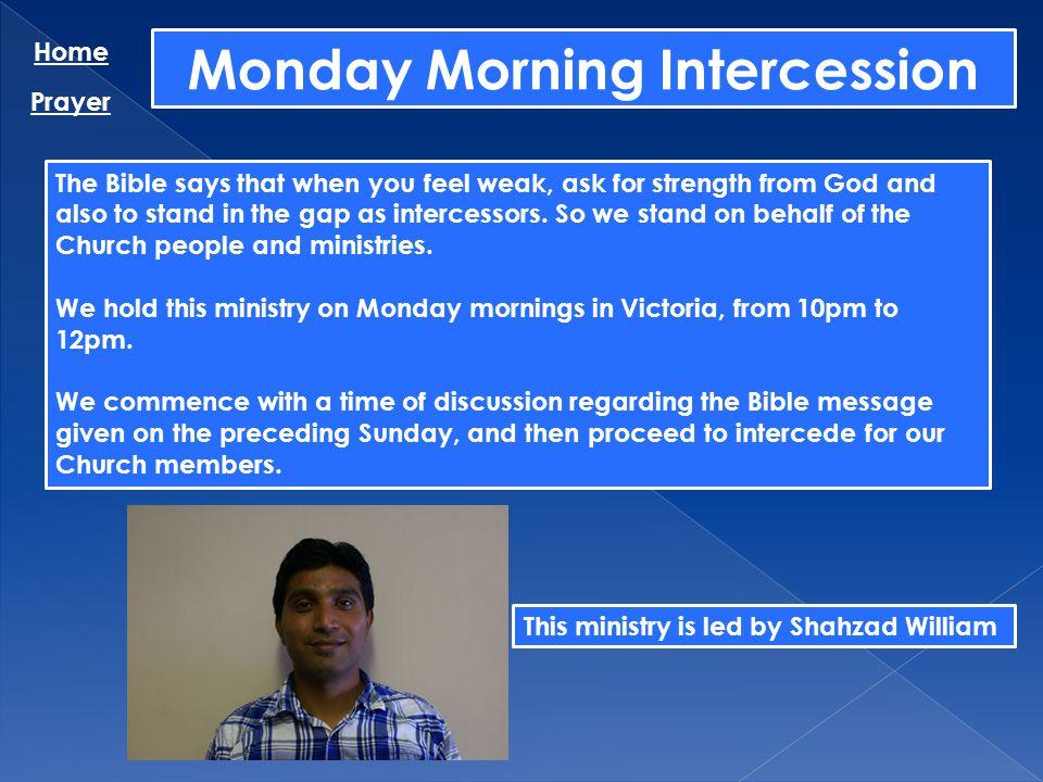 Monday Morning Intercession