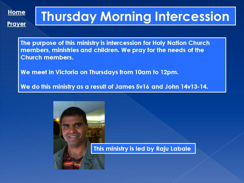 Thursday Morning Intercession