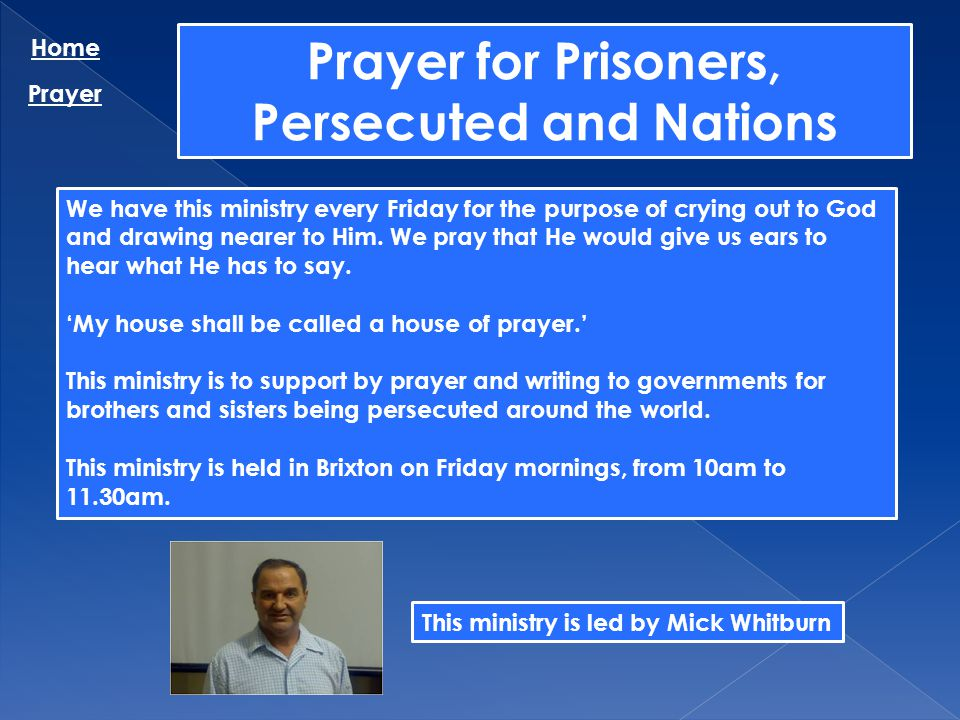 Prayer for Prisoners, Persecuted and Nations