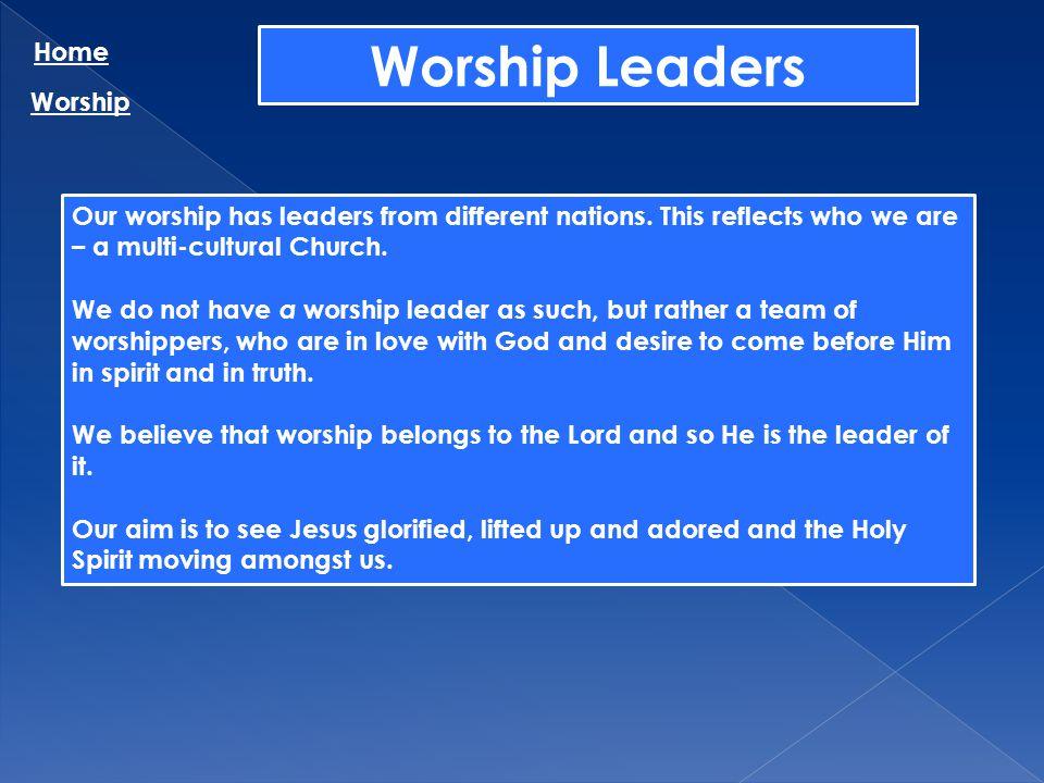Worship Leaders Home Worship