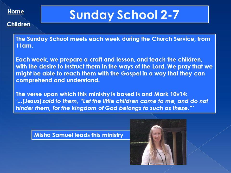 Sunday School 2-7 Home Children