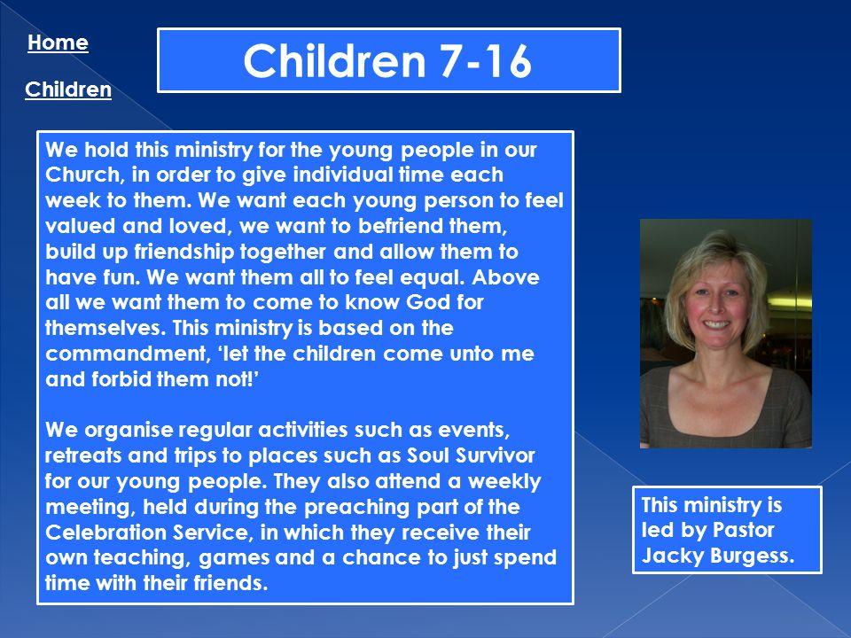 Children 7-16 Home Children