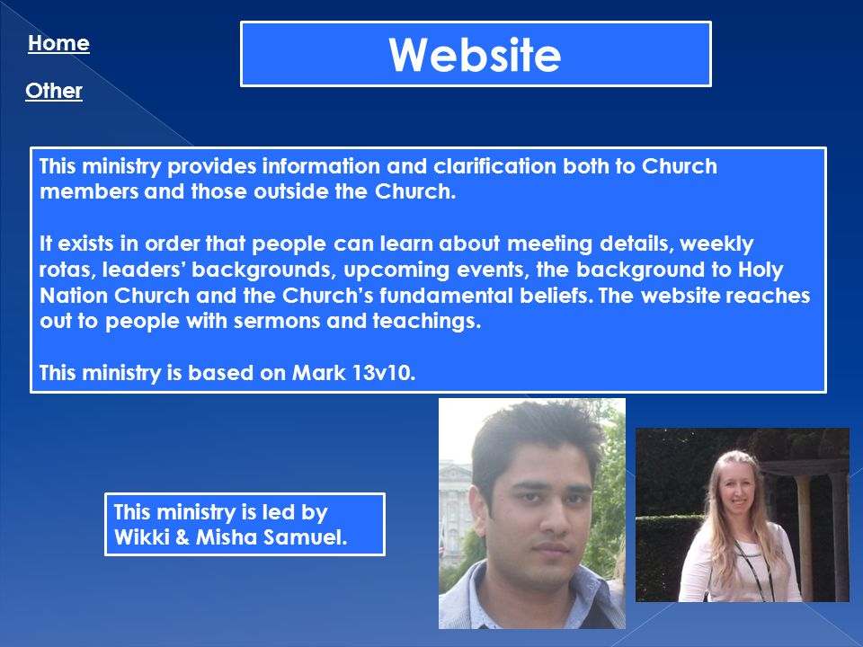 Home Website. Other. This ministry provides information and clarification both to Church members and those outside the Church.