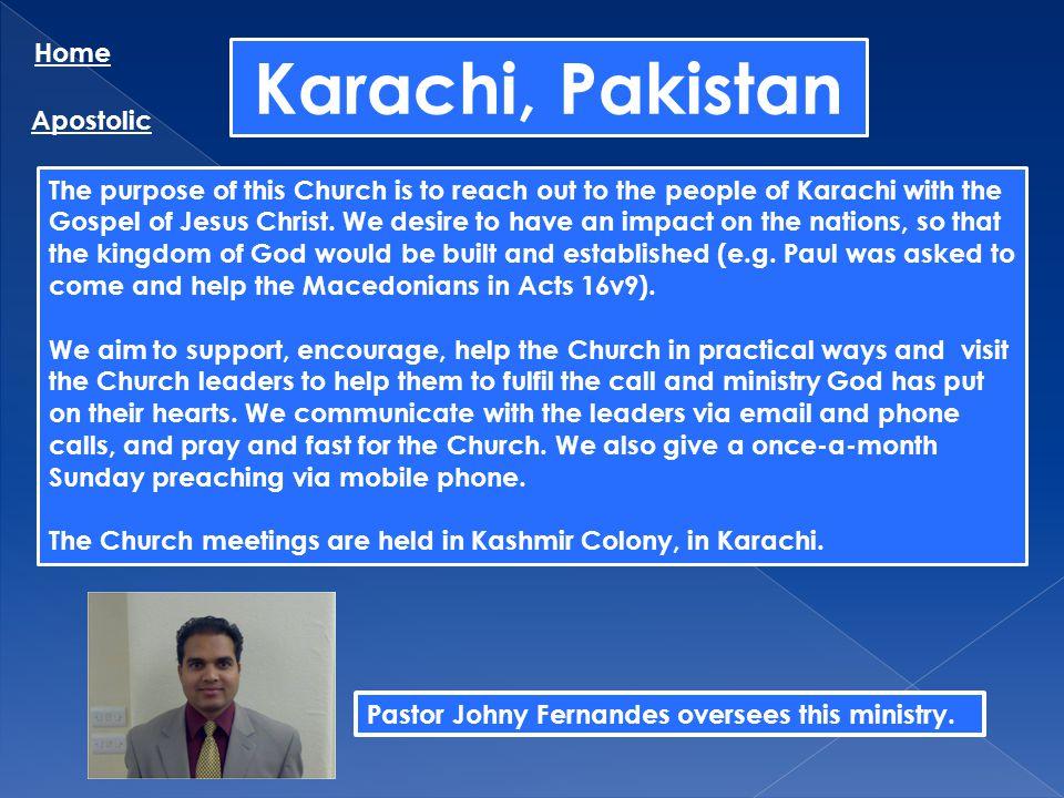 Karachi, Pakistan Home Apostolic