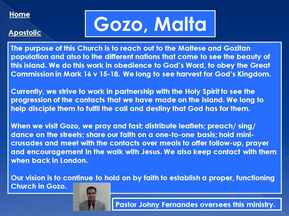 Gozo, Malta Home Apostolic