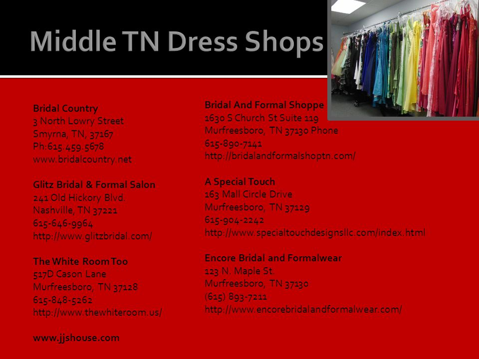 Middle TN Dress Shops Bridal Country Bridal And Formal Shoppe