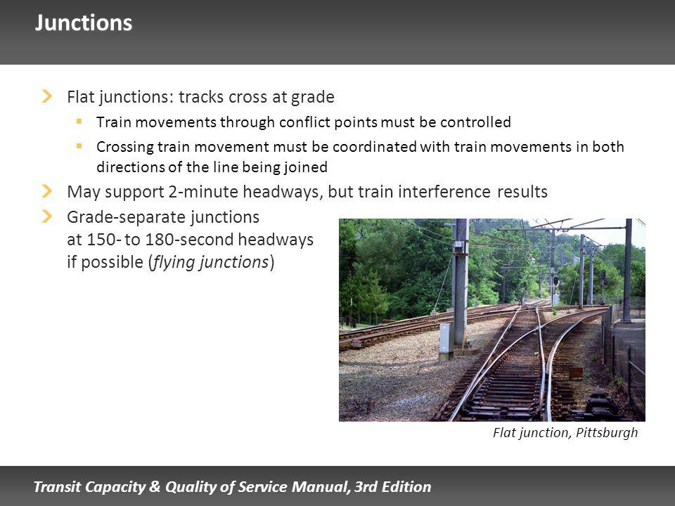 Junctions Flat junctions: tracks cross at grade