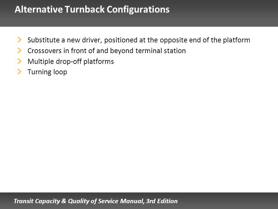 Alternative Turnback Configurations
