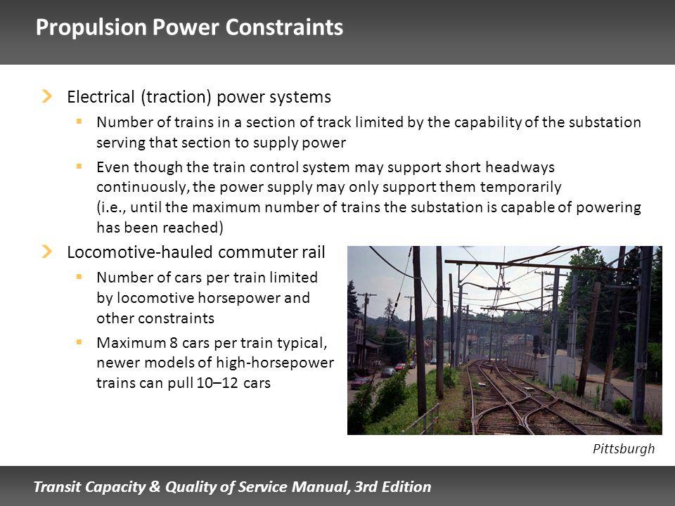 Propulsion Power Constraints