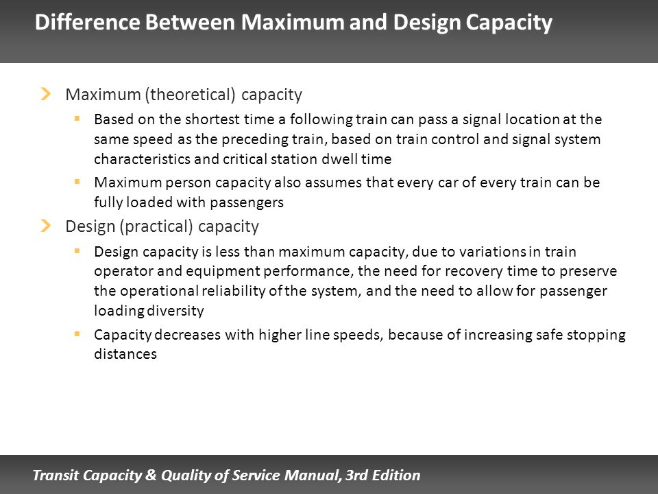 Difference Between Maximum and Design Capacity