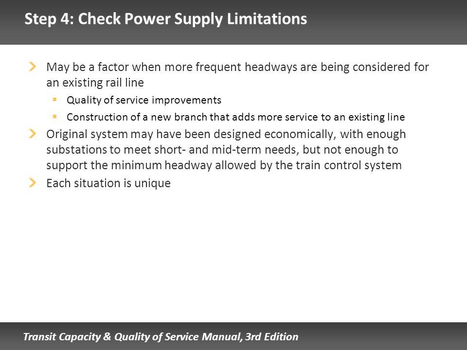 Step 4: Check Power Supply Limitations
