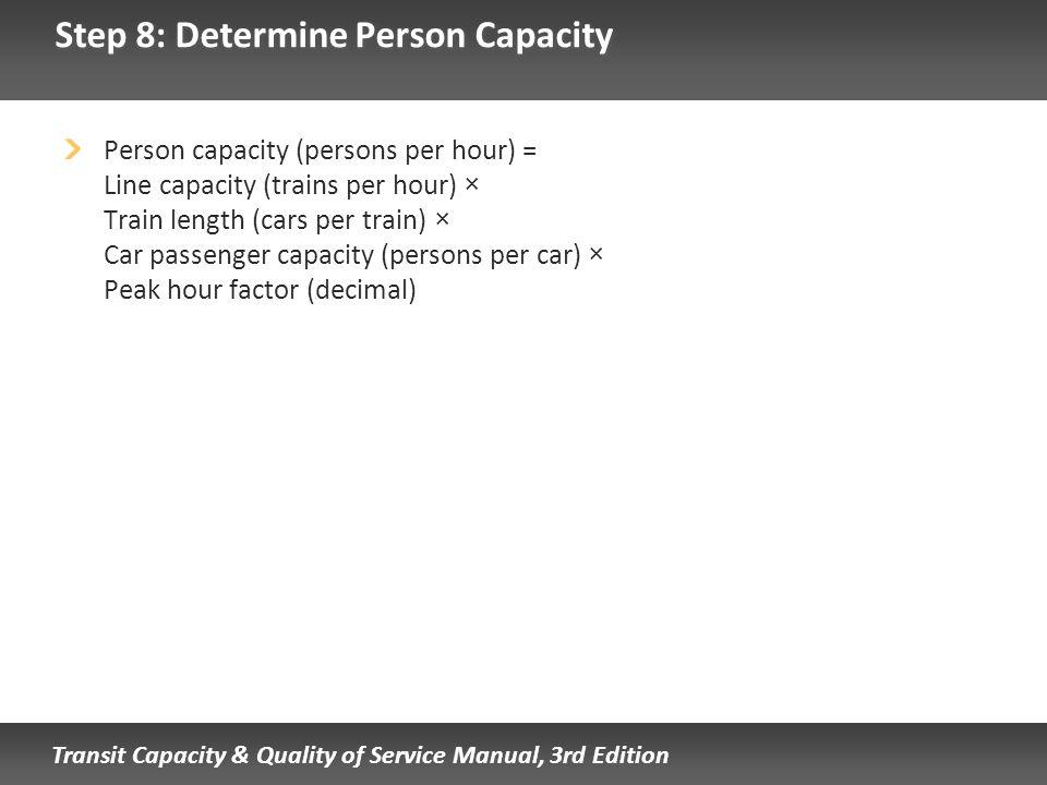 Step 8: Determine Person Capacity