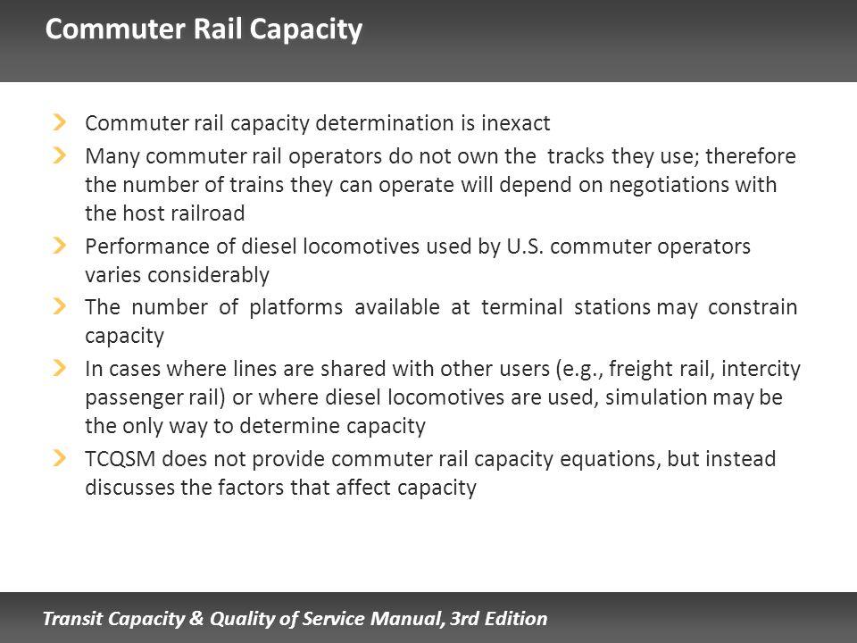 Commuter Rail Capacity
