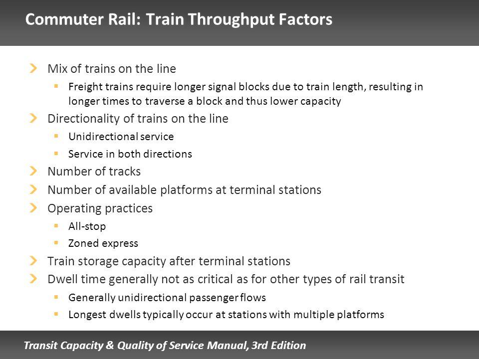 Commuter Rail: Train Throughput Factors