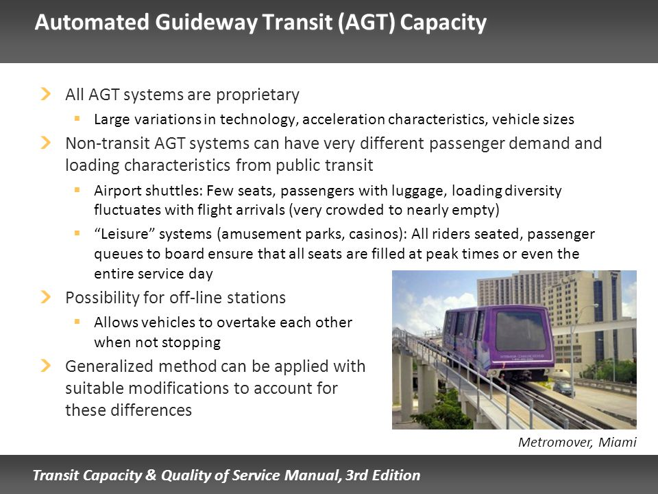 Automated Guideway Transit (AGT) Capacity