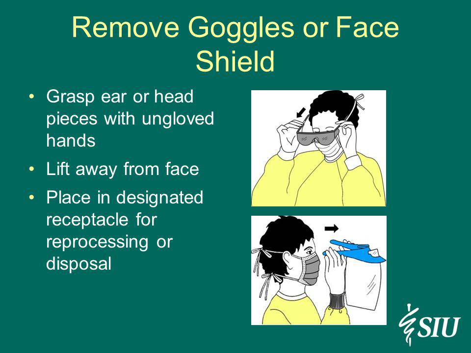 Remove Goggles or Face Shield