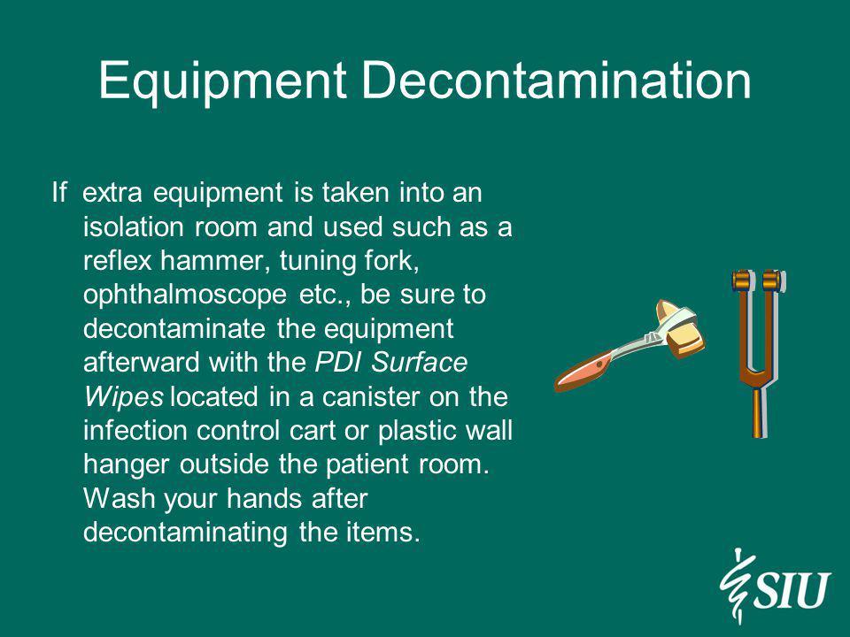 Equipment Decontamination
