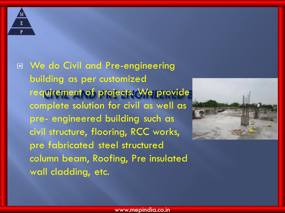 CIVIL AND PRE ENGINEERED BUILDING