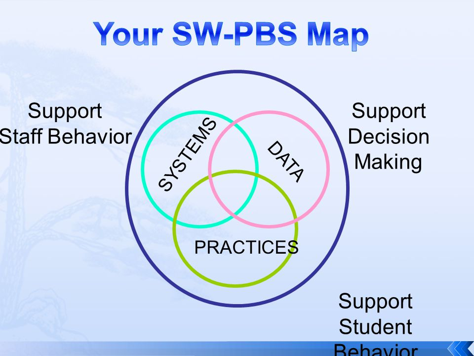 Your SW-PBS Map Support Staff Behavior Support Decision Making Support