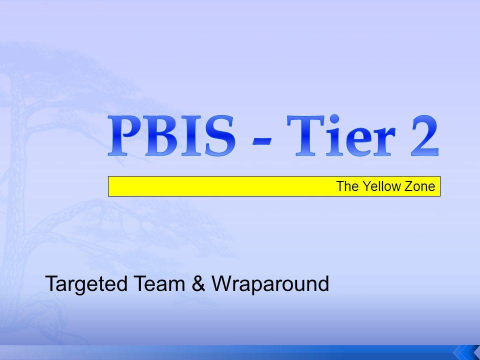 PBIS - Tier 2 The Yellow Zone Targeted Team & Wraparound
