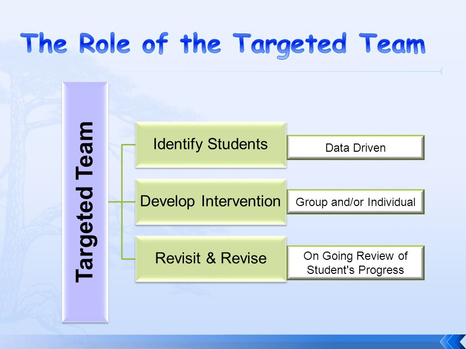 The Role of the Targeted Team