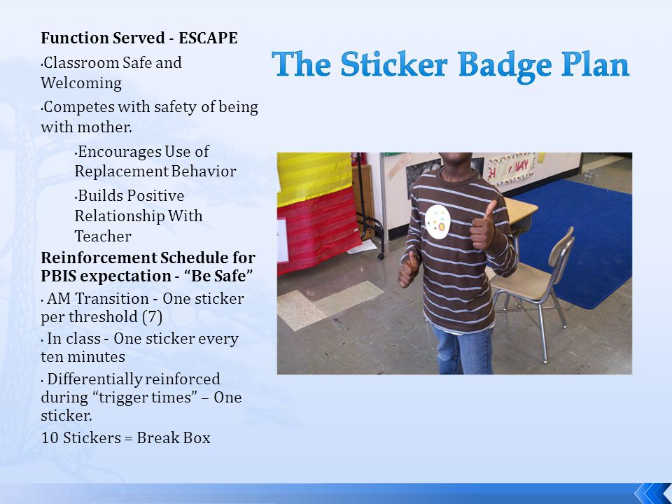 The Sticker Badge Plan Function Served - ESCAPE