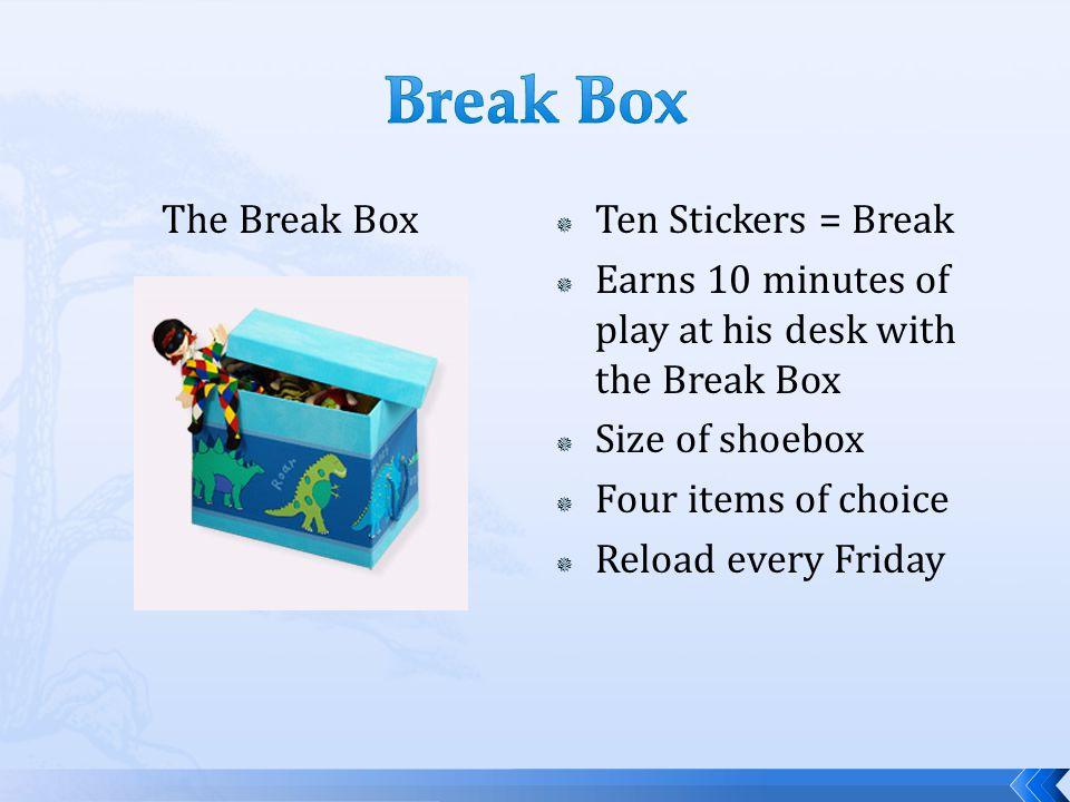 Break Box The Break Box Ten Stickers = Break