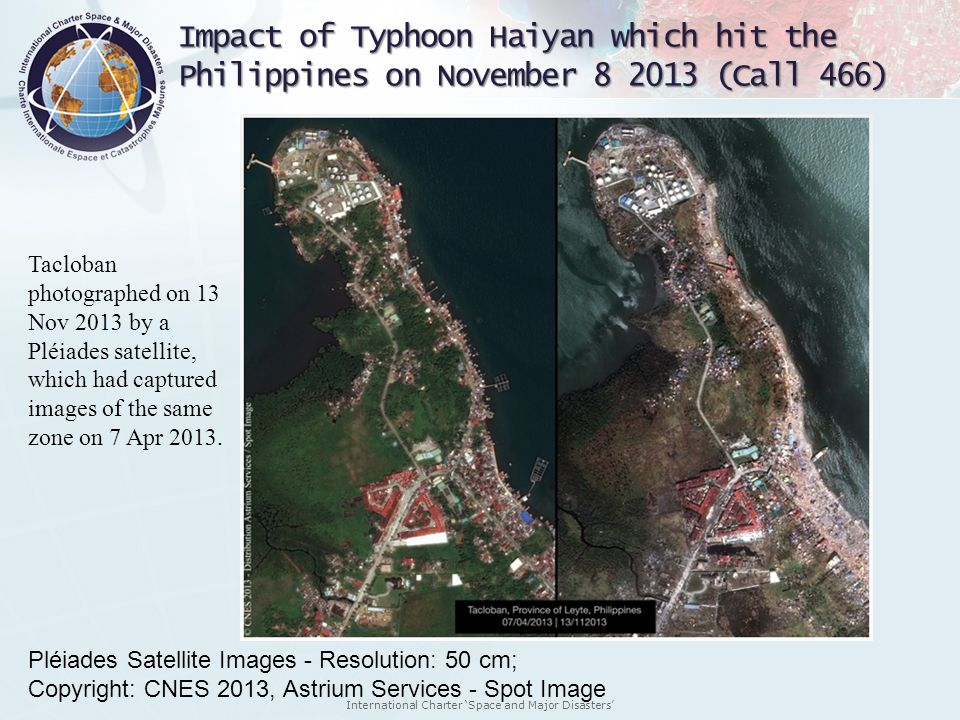 Impact of Typhoon Haiyan which hit the Philippines on November 8 2013 (Call 466)