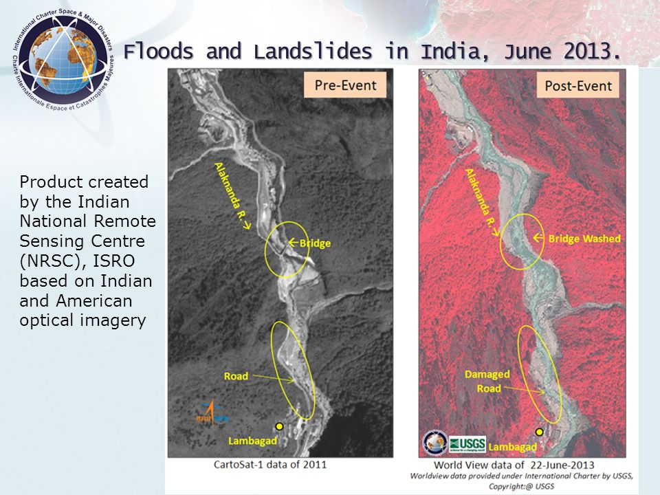 Floods and Landslides in India, June 2013.