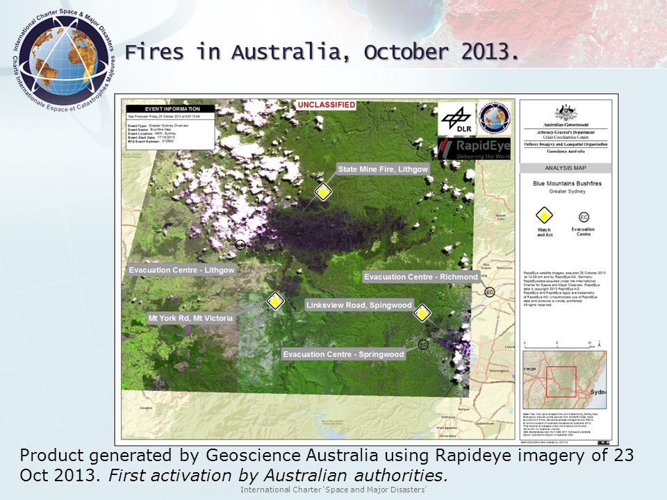 Fires in Australia, October 2013.