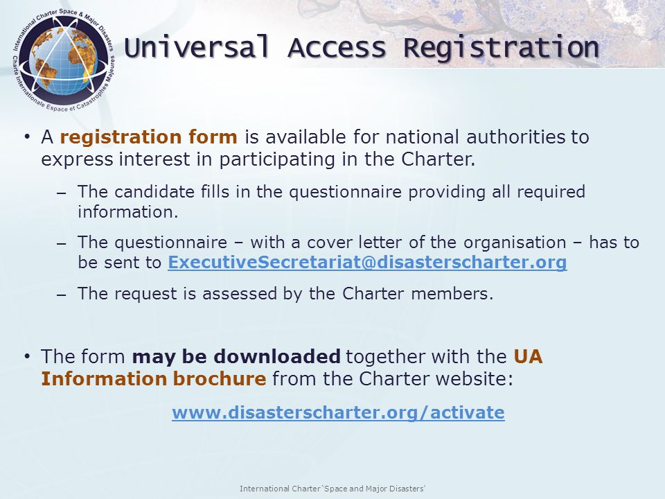 Universal Access Registration