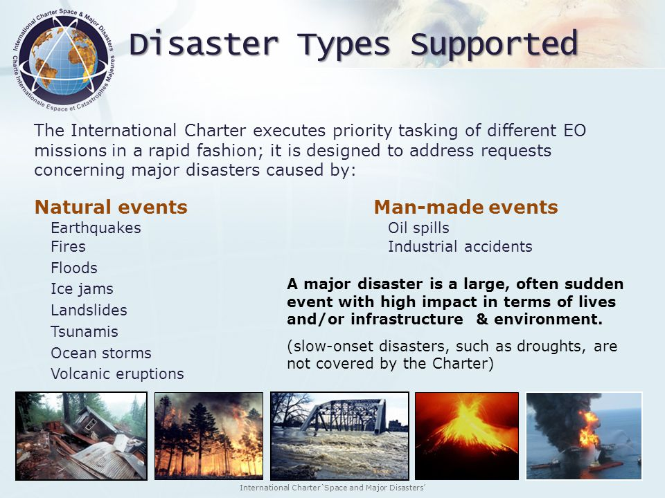 Disaster Types Supported