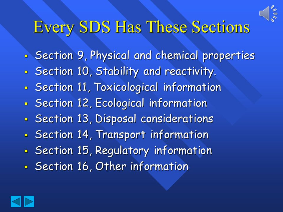 Every SDS Has These Sections
