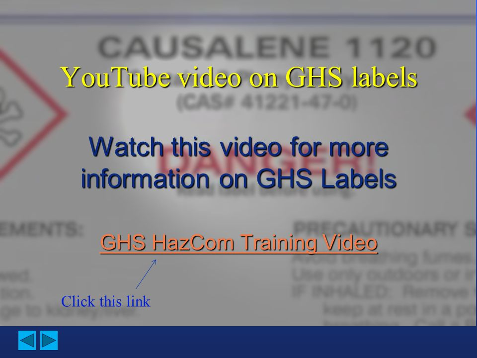 YouTube video on GHS labels