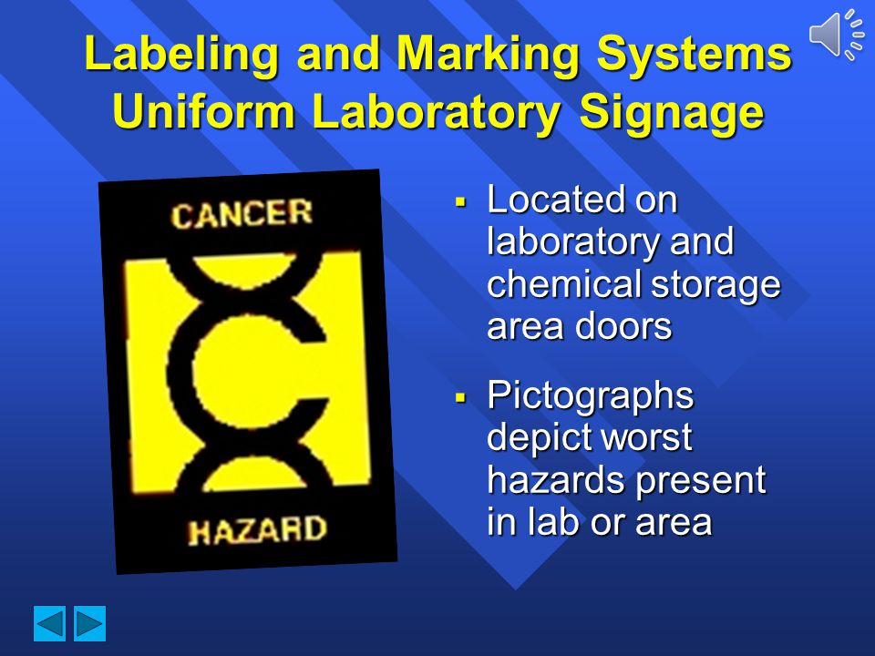 Labeling and Marking Systems Uniform Laboratory Signage